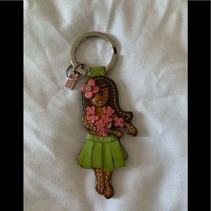 Coach Hula Girl Keychain